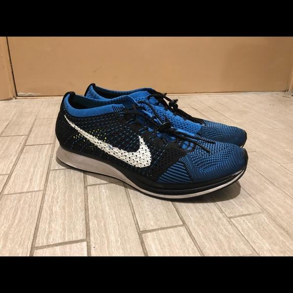 more photos 31d99 1218c Nike Flyknit Racer   ULTRA RARE   Royal Blue Sz 10.  M 5bafd3974ab633946454a207